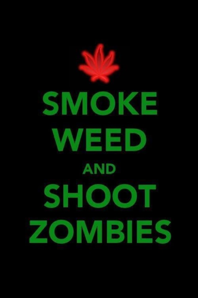 Smoke weed and shoot zombies.