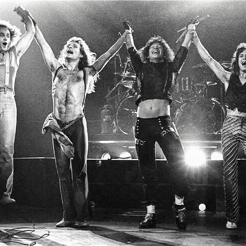 PERFECT SHOT Of THE MIGHTY VAN HALEN After A Kick Ass Concert At The [LA FORUM - INGLEWOOD CALIFORNIA] April 8th 1979! #evh #eddievanhalen #alexvanhalen #davidleeroth #diamonddave #michaelanthony #vintage #classic #klassik #rock #music #history #1970s #1979 #LAforum #inglewoodcalifornia #PerfectShot #RockHistory #vantastikhistory #vantastik #vanhalen #vanhalenhistory