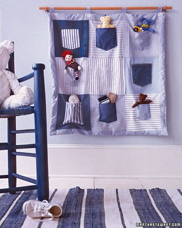 Stuffed-Animal Organizer: Sewing Projects, Baby Gifts, Homemade Gifts, Old Shirts, Shirtpocket Quilts, Martha Stewart, Shirts Pockets Quilts, Kids Rooms, Kids Toys
