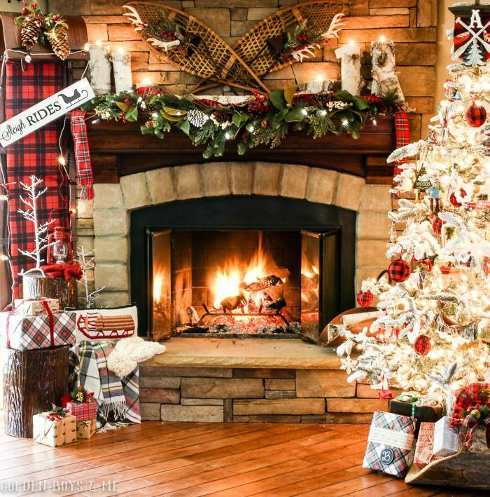 Fireplace Ideas For Christmas: 324 Best Images About CHRISTMAS MANTELS On Pinterest