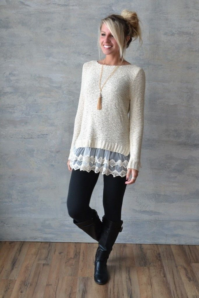 Getting a sewing machine -- I could easily spruce up a sweater that is annoyingly short by adding a lace trim...