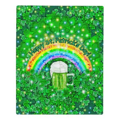 St. Patrick's Day Jigsaw Puzzle - st patricks day gifts Saint Patrick's Day Saint Patrick Ireland irish holiday party