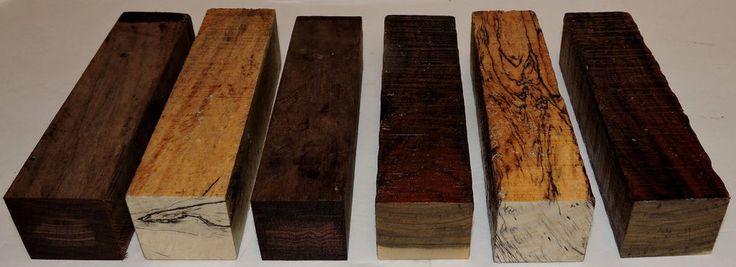 Six Exotic Woods Turning Blanks 1.5x6 Duck Calls Handles Reel Seats Penturning #Unbranded #Bowlblank