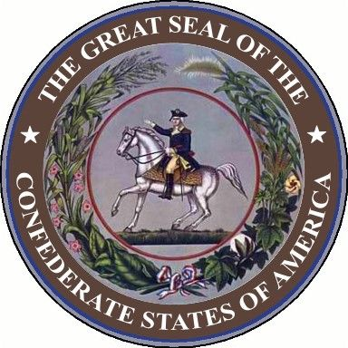 "Huh. Never saw this before. Links to similar materials too. (""The Great Seal of the Confederate States of America"")"