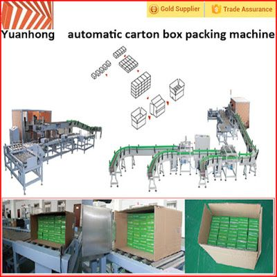 Automatic Packing Line For Industry Automation in the future: Automatic carton into box packing line