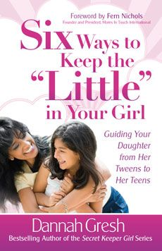 "A must read for Mommies with little girls.    ""When the world wants girls to grow up too fast, how do you help your daughter navigate boy craziness, modesty, body image, media, and Internet safety? The foundation for an emotionally healthy teen girl is built between the ages of 8 and 12."""