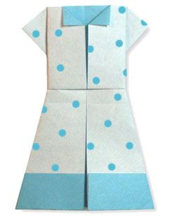 Origami One Piece Dress2 This site has animation showing you step by step how to fold the paper!