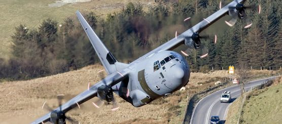 A RAF Hercules low-level in Wales