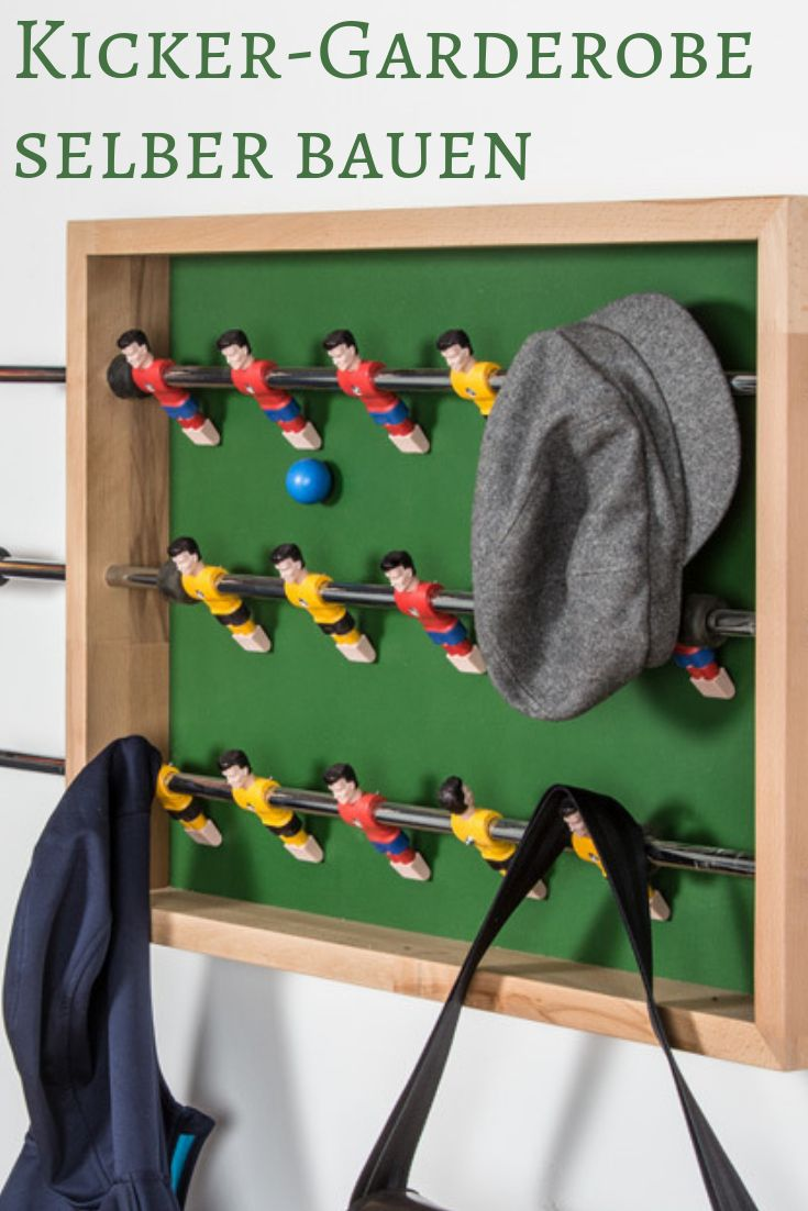 Kicker-Garderobe bauen