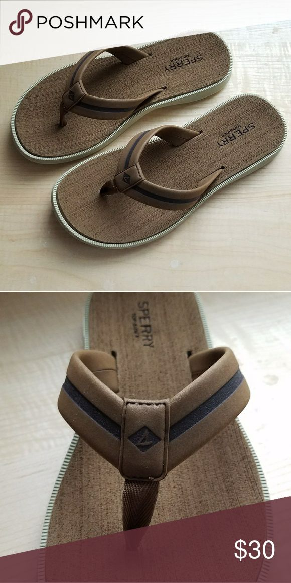 Mens Sperry sandals Mens Sperry Sandal Defender thong in 9M.  Color brown. Brand new with original box. Sperry Shoes Sandals & Flip-Flops