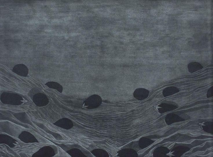 Graeme Peebles 'Mt Buffalo' - etching on paper