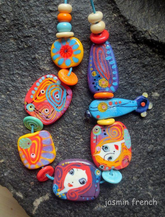 jasmin french u0027 summer solstice u0027 lampwork beads set sra