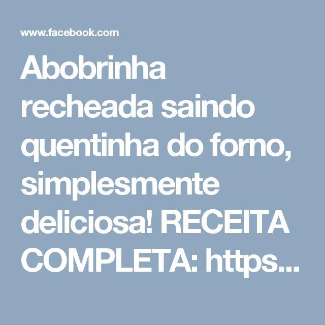 Abobrinha recheada saindo quentinha do forno, simplesmente deliciosa! RECEITA COMPLETA: https://www.tastemade.com.br/vi…/abobrinha-italiana-recheada