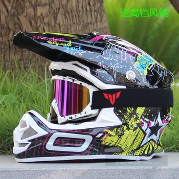 Full Face Motorcycle Helmet + goggles free gift  Size: S, M, L, XL