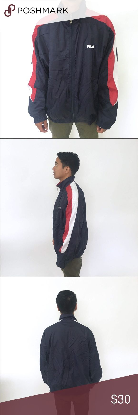 """90's FILA windbreaker 1980s 1990s size Large 