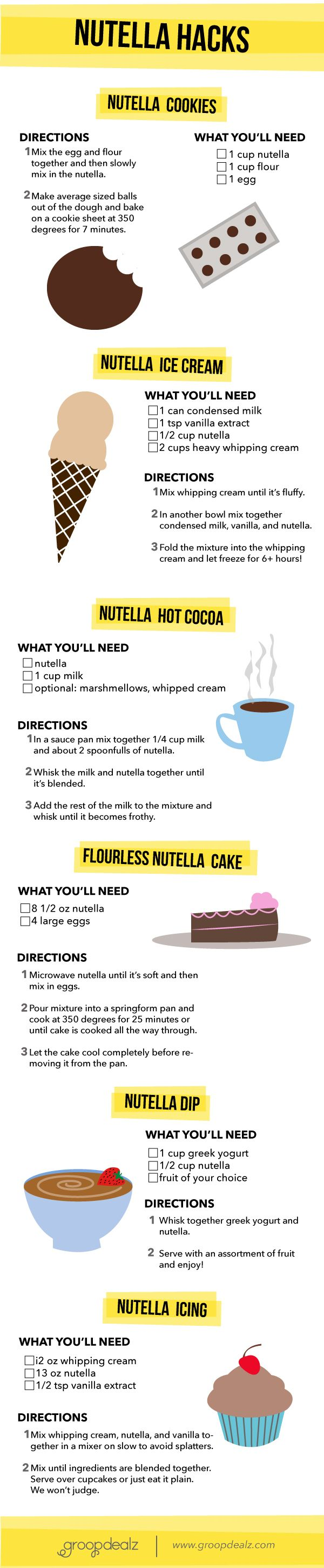 Nutella Hacks and Recipes                                                                                                                                                                                 More