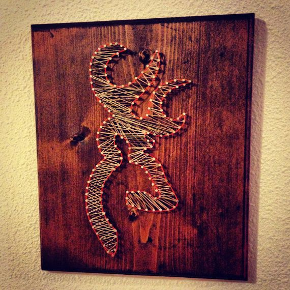 Browning string art deer buck hunting camo by StartActinLikeaLady, $40.00