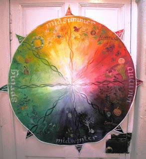 Making Space Penicuik: Preparing the Seasons Wheel wall hanging