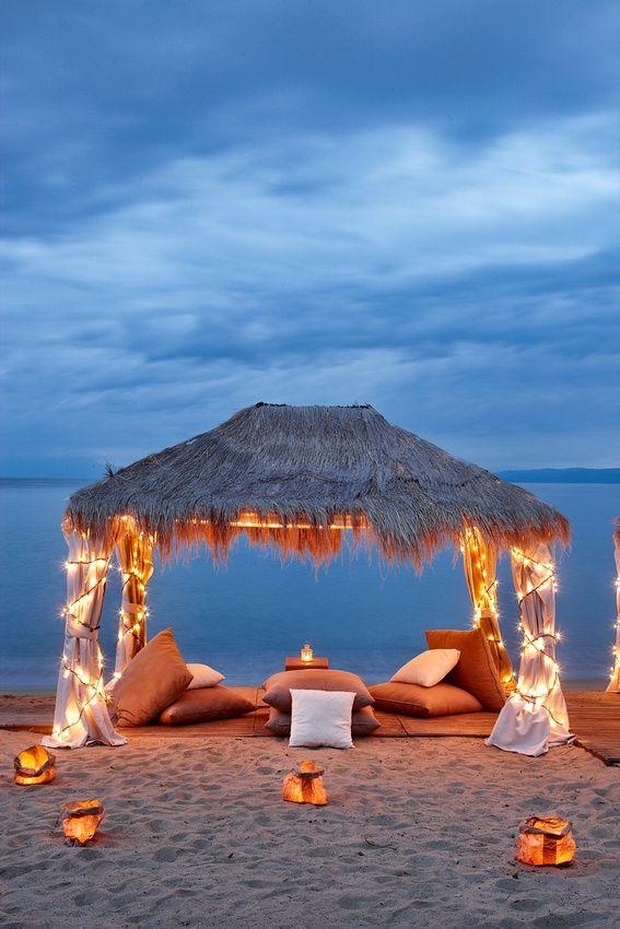 Para una cena #romántica en la #playa...