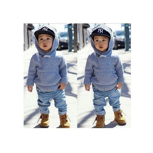 Can't wait until winter so EJ can wear his timbs like papi.