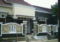 pagar rumah minimalis varian batu alam