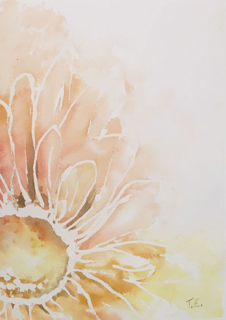 Sunflower Morning - Watercolor 2015/10