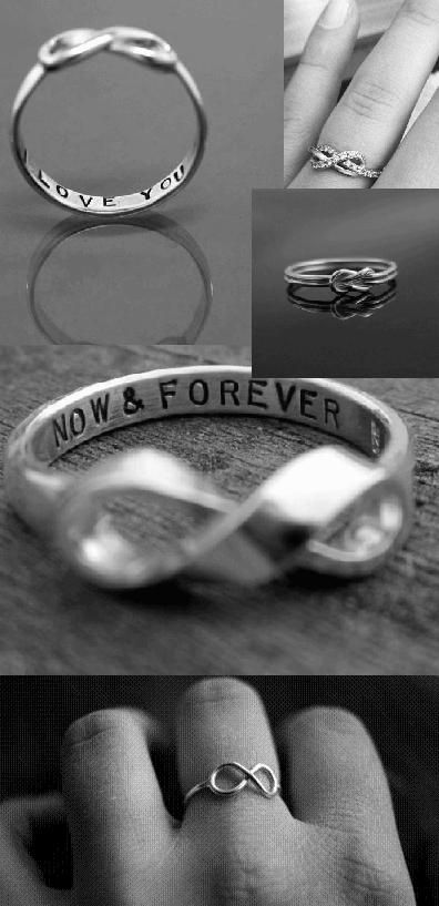 My hand would look so much better with an infinity ring on it. These are so simple & precious.