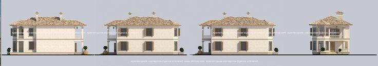 Проекты одноэтажных домов в Средиземноморском стиле Одесса Архимас