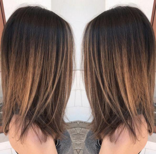 Dark sombré. Hair by SALON by milk + honey stylist, Jordan Lee. #sombre #ombre #highlights #haircolor #brunette