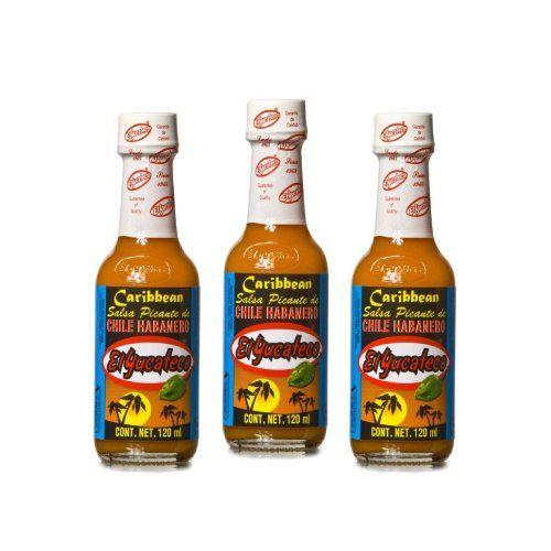 El Yucateco Caribbean Hot Sauce 4 oz. (3-Pack)