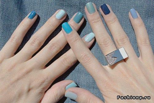Модный тренд: разноцветные ногти.