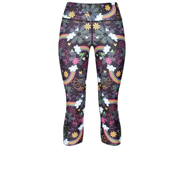 Tikiboo Skulls & Rainbows Capri #Activewear #Gymwear #FitnessLeggings #Leggings #Tikiboo #RainbowPrint #Running #Yoga