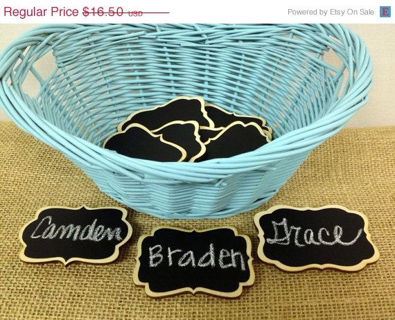 Sale- NEW Chalkboard Name Tags- set of 6- Magnetic Name Tags, Reusable,--Perfect for Office Parties, Meeting, and Corporate Events on Etsy, $14.03
