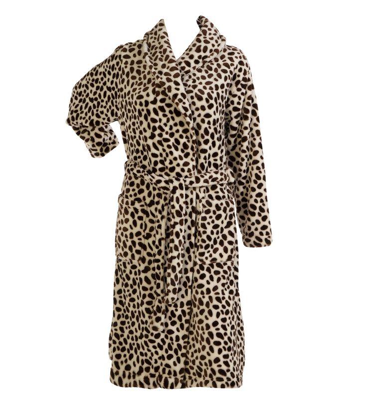 Leopard Supersoft Fleece Robe   Fashideas.com