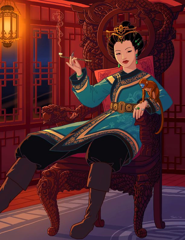 Ching Shih by tamiart on deviantART.  One of the most powerful pirates in history.