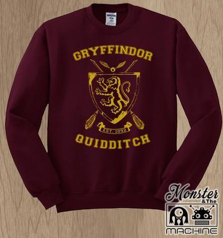 ef6f89da3 Gryffindor House Quidditch Sweatshirt   Harry Potter   Sweatshirts,  American apparel, Racerback tank