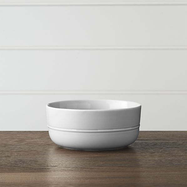 Hue Light Grey Bowl | Crate and Barrel
