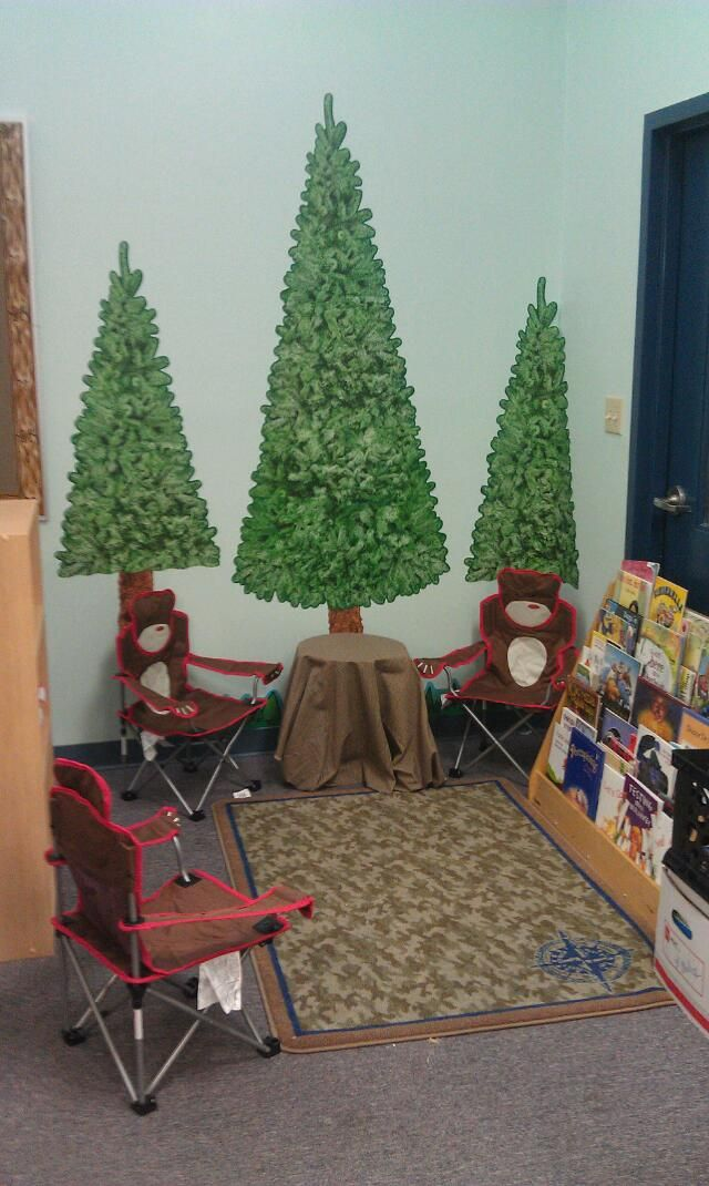 Camping Classroom Decoration ~ Camp theme classroom library camping decorations