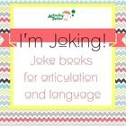Kids love jokes of all kinds! By bringing joke books into your room, you'll be able to target your goals while keeping motivation high. And they'll practice! Jokes are organized by sound/position and season. Includes templates to make joke books to send home for additional practice. Appropriate for readers 2nd gr-middle school.