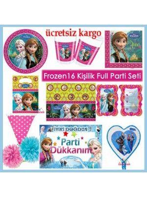 Frozen Full Ekonomik Parti Seti (16 Kişilik)