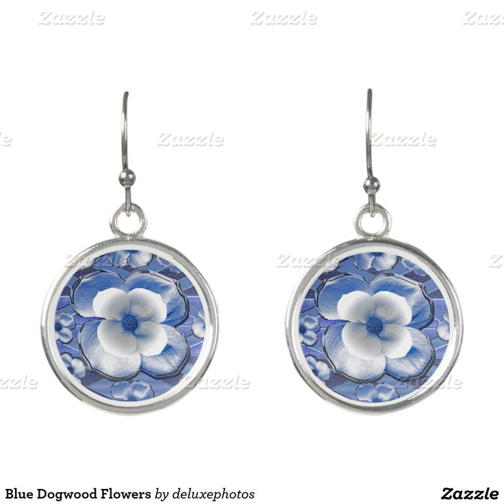 Blue Dogwood Flowers Earrings. Regalos, Gifts. #DiaDeLasMadres #MothersDay