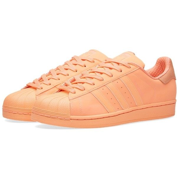 Adidas Superstar Adicolor ($51) ❤ liked on Polyvore featuring men's fashion, men's shoes, men's sneakers, mens rubber shoes, adidas mens sneakers, adidas mens shoes and mens perforated shoes