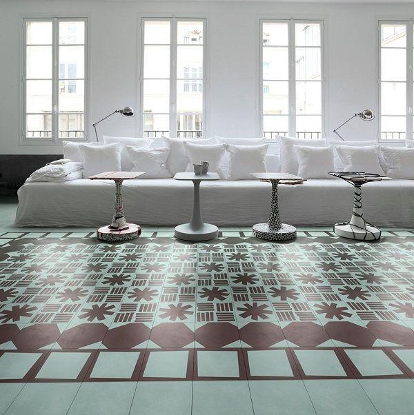 Bisazza Contemporary cement tiles - #cersaie 2014
