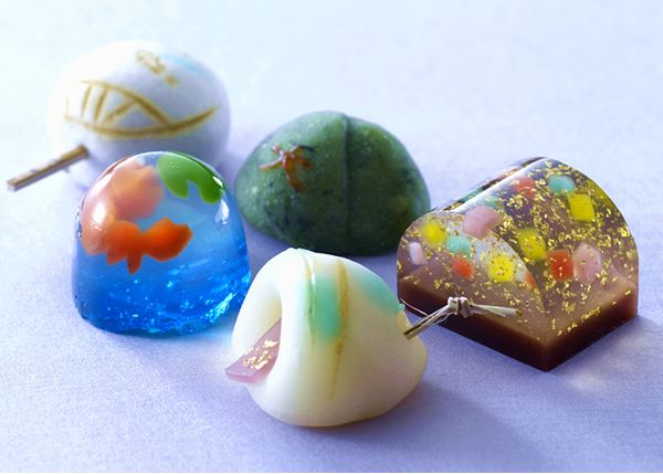 Sweets of spring. wagashi.