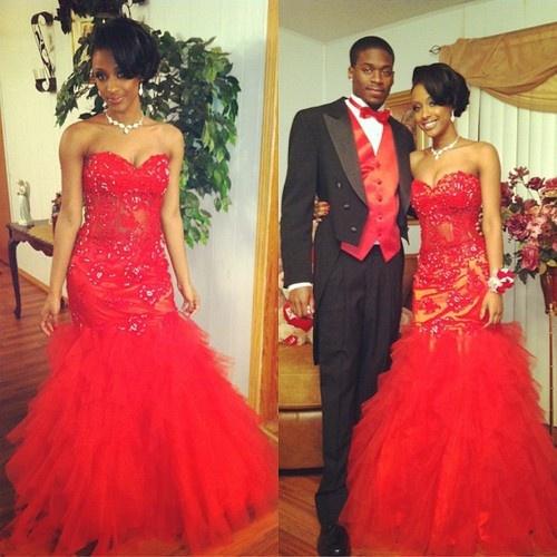 Girls Red Formal Dress Fashion Dresses