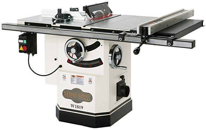 Shop Fox W1819 3 Hp 10 Inch Table Saw With Riving Knife Idees Pour La Maison Maison A Table