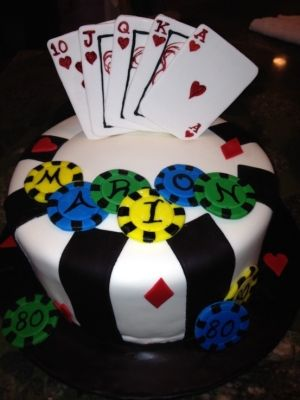 Best Poker Cakes  Birthdays Images On Pinterest Poker Chips - Cake birthday games