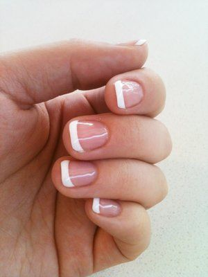 Shellac French Manicure. I think I have this about 80% of the time lol. LOVE it