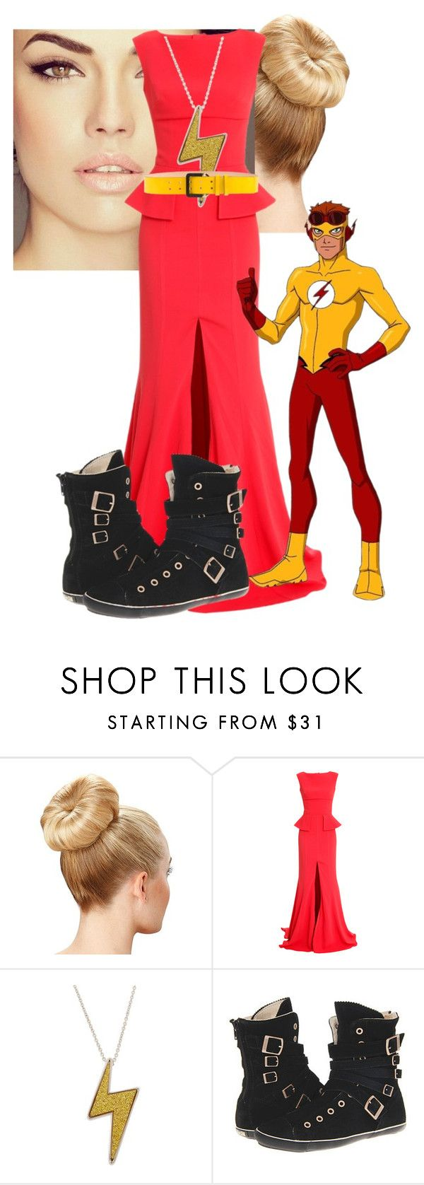 """kid flash/ wally west date"" by lexycherryberry on Polyvore featuring Safiyaa, Marc by Marc Jacobs, Converse, Quiksilver and Dsquared2"