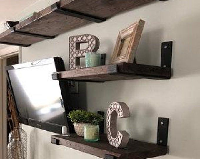 12 Inch X 2 Wide X 1 4 Thick Rustic Farm House Open Shelf Metal Shelf Bracket Kitchen Shelf Bracket Steel Shelf Bracket Forged Farm House Steel Shelf Brackets Metal Shelves